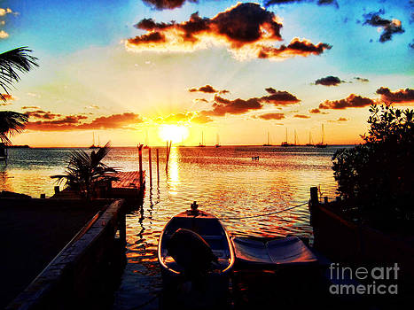 Belize Sunset II by Shelly Leitheiser