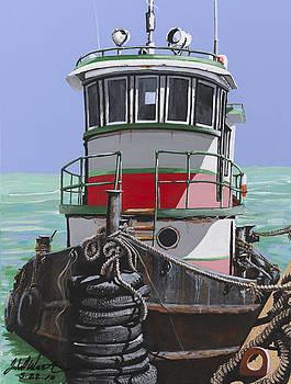 Belizean Tug Boat by John Westerhold