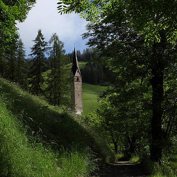 Susan Rovira - Bell Tower in Dolomite Village