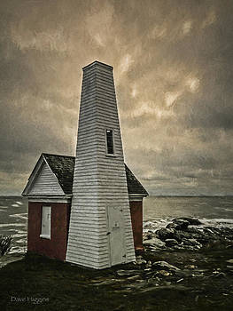 Bell Tower Pemaquid lighthouse Maine by Dave Higgins
