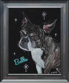 Belle Black Velvet Painting by Diane Bombshelter