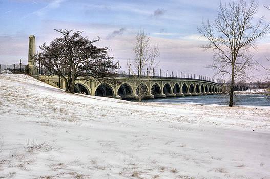 Belle Isle Bridge in Winter by Rod  Arroyo