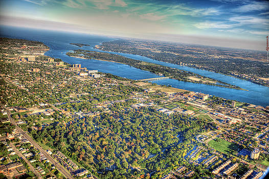 Belle Isle From Twenty Five Hundred Feet by A And N Art