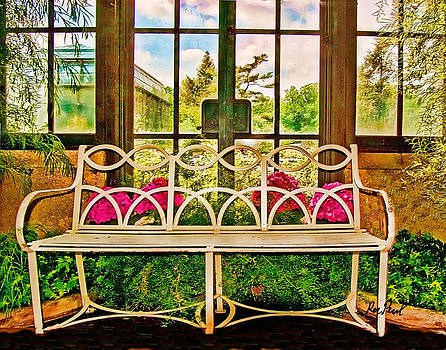 Bench in the Greenhouse by Ron Pearl