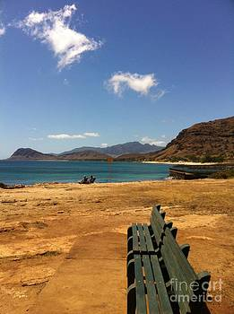 Bench View Waianae by Lisa Cortez