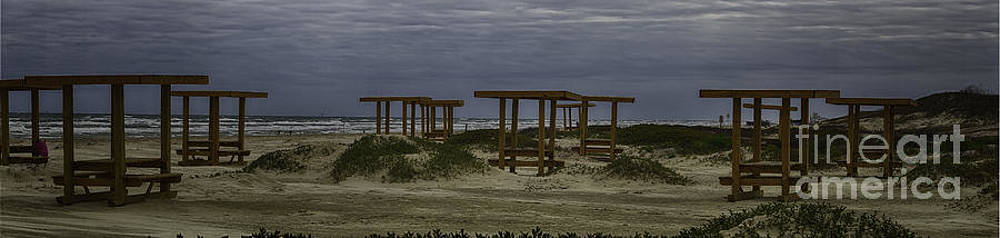 Benches By The Sea by Jeremy Linot