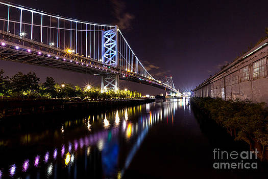 Benjamin Franklin Bridge @ Night by Daniel Portalatin Photography