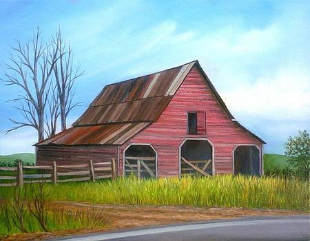Bennett Road Barn in Forsyth County GA by Vivian Eagleson