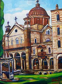 Berg Athos Kloster Zografou by Matthias Laurenz Graeff