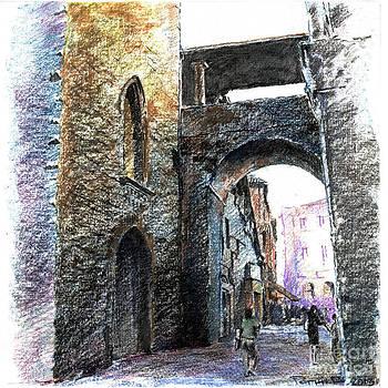 Bergamo. Arc near Piazza Veccia by Viacheslav Rogin