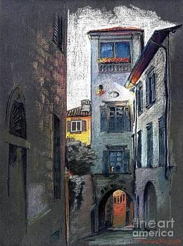 Bergamo. Via Tassis by Viacheslav Rogin