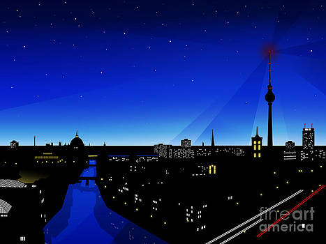 Berlin at night by Sandra Hoefer