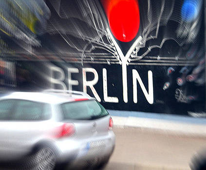 Berlin Wall Driving By by Yvonne Gallagher