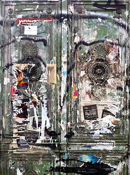 Berlin Walls-Green Doors by Doveen Schecter