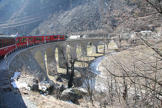 Bernina Express in Winter by Travel Pics