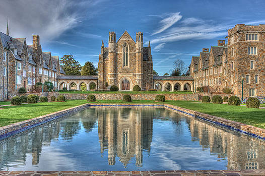 Berry College reflection pool at Ford Hall by Gerald Adams