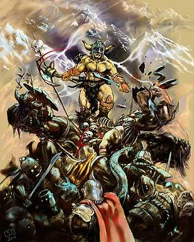 Berserker on the Mountain by Bob Cook