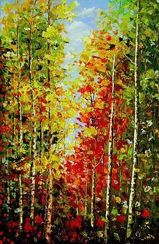 Best Art Choice AWARD Original Abstract Oil Painting Modern Landscape Forest Trees Gallery by Emma Lambert