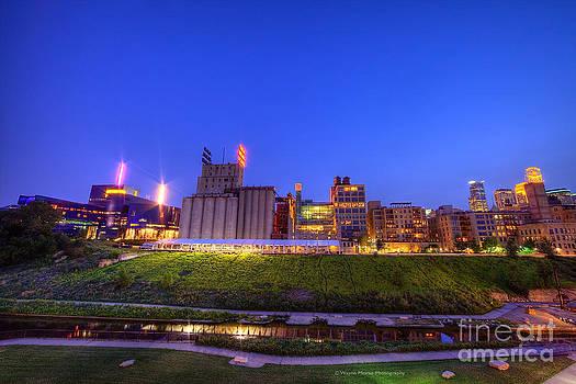 Wayne Moran - Best Minneapolis Skyline at Night Blue Hour