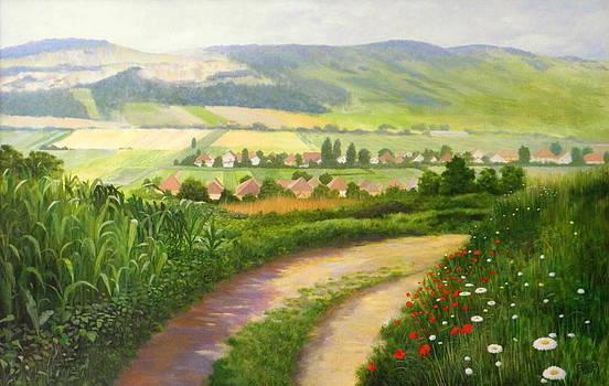 Between villages by Erno Saller