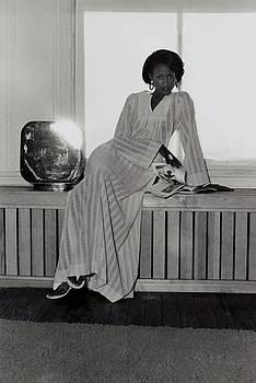 Beverly Johnson Wearing A Striped Caftan by Kourken Pakchanian