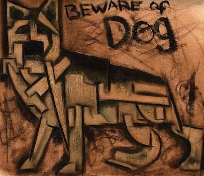 Tommervik Beware of Dog Art Print by Tommervik