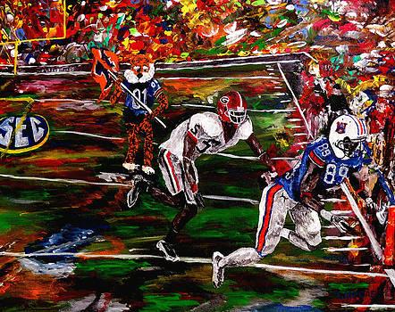 Beware Of The Tiger - Auburn vs Georgia Football by Mark Moore