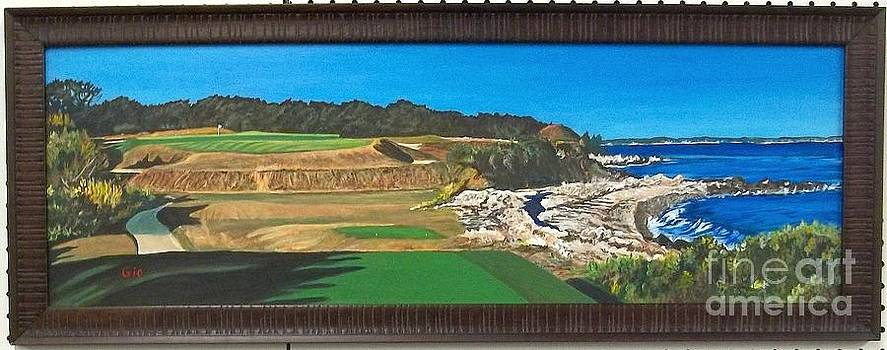 Biarritz hole at Fishers Island golf course by Frank Giordano