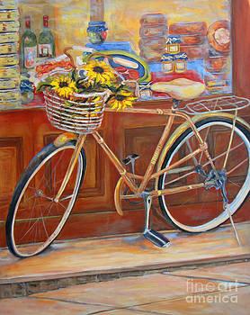 Bicycle in Cortona by Brenda Brannon