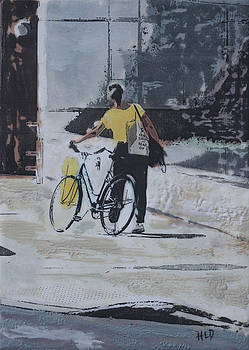 Bicycle In Hand by Heather Douglas