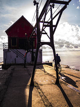 Bicycle on Grand Haven Pier by Kirsten Dykstra