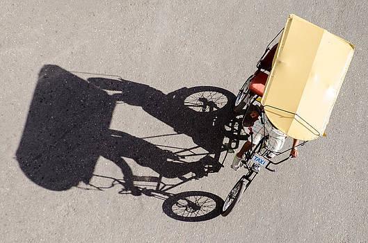 Bicycle Taxi in Havana Cuba by Rob Huntley
