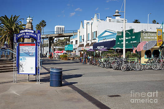 Jo Ann Snover - Bicycle trail at Santa Monica Pier