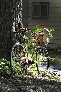Bicycle with Basket and Hat by Ray Summers Photography