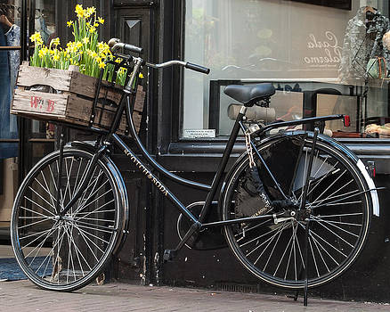 Bicycle With Flowers #1 by Marinus En Charlotte