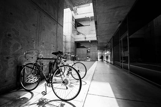 Bicycles at the Salk by Alan Roberts