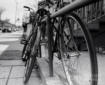 Bicycles In Black and White by Mary  Smyth