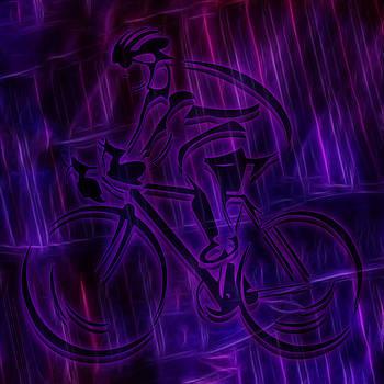 Ray Van Gundy - Bicyclist in Electric Rain