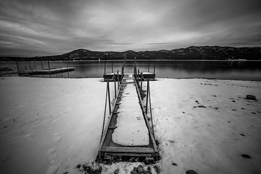 Big Bear Pier Black and White by Robert  Aycock