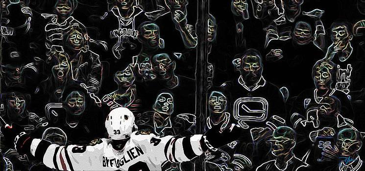 Big Buff Chicago Blackhawks by Dancin Artworks