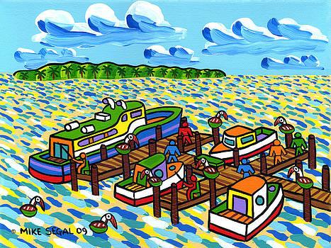 Big Dock - Cedar Key by Mike Segal