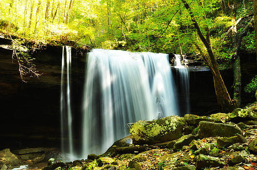 Big Laurel Falls at Virgin Falls State Natural Area in Tennessee  by Heather Bridenstine