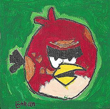 Big Red Angry Bird by Fred Hanna