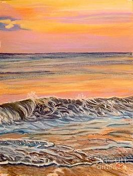 Big Wave at Sunset by Frank Giordano