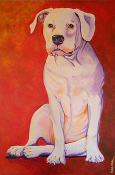 Big White Dog by Laura Bolle