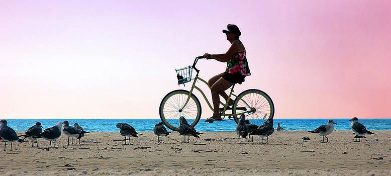 Bike Chic at the Beach by Kathleen Mroz