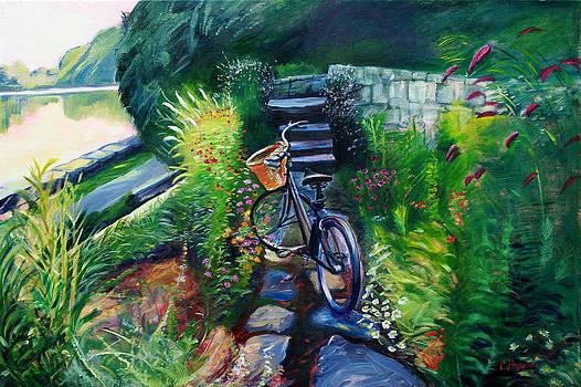 Bike in the Butterfly Garden by Colleen Proppe