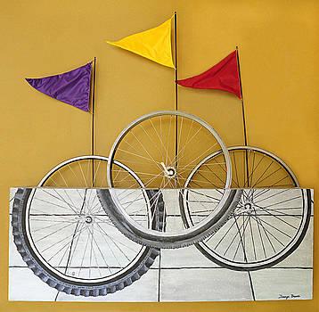 Bike Wheels by Taunya Bruns