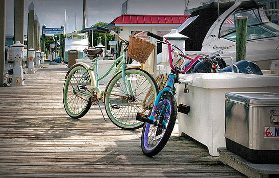 Bikes On The Dock by Phil Mancuso