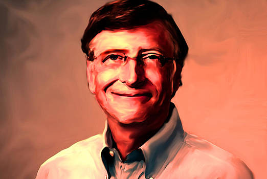Bill Gates Painting by Parvez Sayed